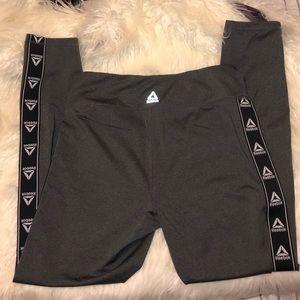 Grey Reebok workout leggings